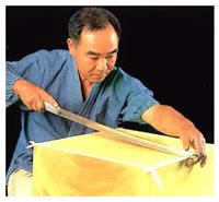 Craftsman with a japanese sword