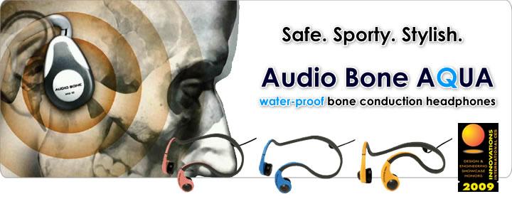 Audio Bone - Stylish and sporty bone conduction Headphones